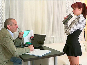 Stefany gets hardly fucked by her chief on the office table.