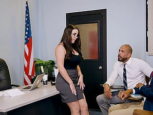 Gorgeous Angela Milky and the very first-ever black hard-on of her career