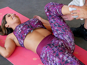 Huge-titted honey called Reena getting a balls-deep treatment in the gym
