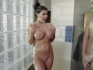 Huge-titted August Taylor is absolutely ready for a dose of deep drilling