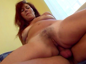 Fucking My Sexy Sandy-haired Stepmom In Livingroom couch