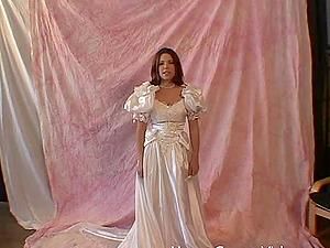 Massive love rod for a ultra-cute woman in a wedding sundress