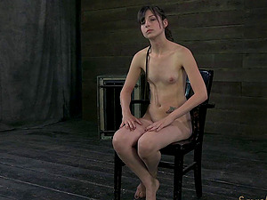 Skinny Kristine has never been treated in such a painful way!