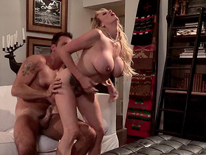 Tattooed cowgirl with faux tits lovey pounded gonzo missionary