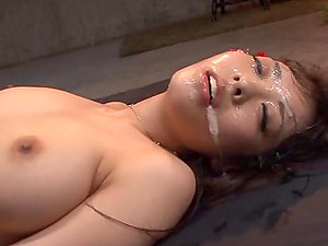 Masquerade turns into a lustful orgy that leads to a cum-drenched face