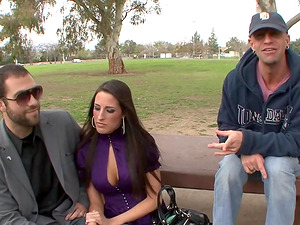 Hot Kourtney Kane gets fucked while her man sees
