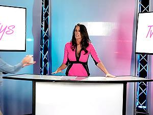 Enormously attractive honies Adria Rae and Reagan Foxx having joy nude