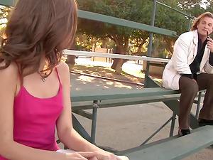 Sexy Spinner Riley Reid taut Labia Spread