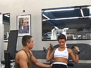 Sexy Timi and Sylvia Dahl swinging playmates at the gym