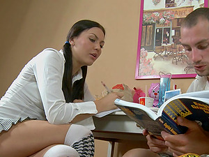 Nasty Hanna tempts a man for a hard-core lovemaking session