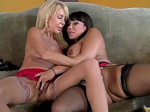 Ava Devine and Erica Lauren are a duo of orgasm longing ladies