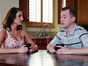 Nicole Aniston joins a black-haired in seducing a randy fellow