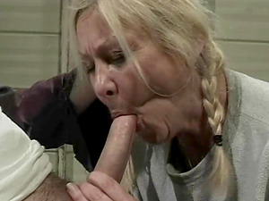 Stunner with braids Jackie gets down and dirty to taste a boner