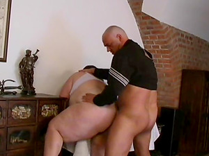 Obese dark haired is in need of a horny man's pulsating dick