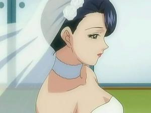 Fucking a bride turns into a four way anime porn
