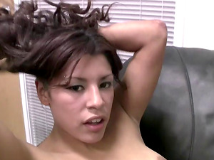 Janelle knows how to make a lucky fellow's dick stiff