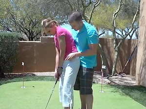 Golf lessons - then Bang-out