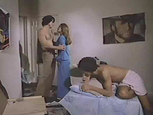 Two couples enjoy fucking each other during a nasty orgy