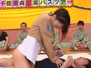 Army general Chika Arimura fucking all her rookies like a true slut