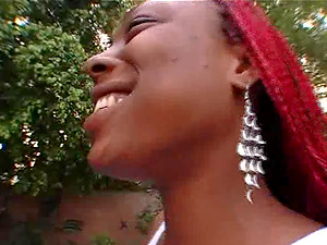 Shakahri is a babe with braids who likes bouncing on a cock