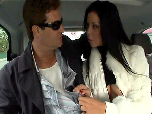 Hot ass Larissa Dee pussy fingered then pounded hardcore in the car
