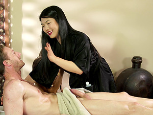 Hot Asian Nari Park seduces a guy with her sexual skills