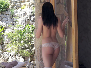 Romantic erotic experience with stunning brunette Lovenia Lux
