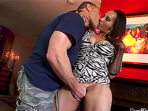 Your Mom's Hairy Snatch Gets Fucked Hard By a Large Penis