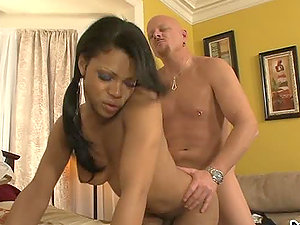 Sexy black Transsexual Babysitter gets fucked hard in the booty