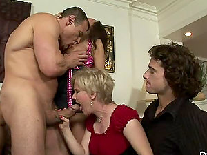 Madeline Hunter and Syren De Mer have fun dirty games with bisexual guys