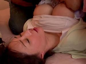 Haruka Aizawa ravished during a threesome by two fellows