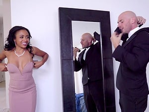 Anya Ivy is a stunning chocolate chick in need of a white cock