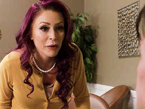 Ripping off the pantyhose of a hot redhead Monique Alexander