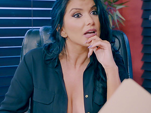Negotiating the deal in stockings and in the way of Romi Rain