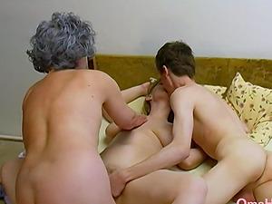 Amateur mature footage featuring old threesome sex masturbation