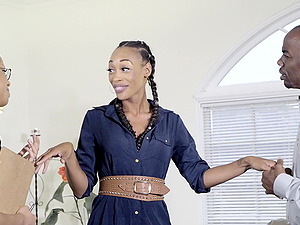 Kira Noir is a babe with braids in need of a massive cock