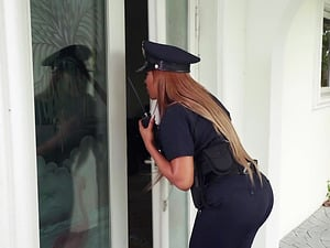 Big breasted policewoman Moriah Mills is curious about a big dick
