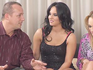 Bethina Dilapri and her girlfriends enjoy two massive dicks