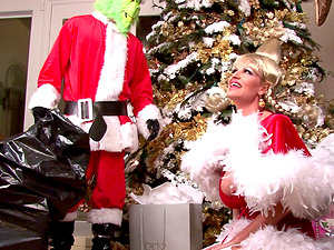 Kelly Madison bends over for a hot Christmas sex session