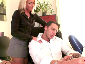 Kathia Nobili is a stunning blonde seduced by a boss