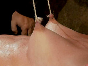 Nasty Blonde Stunner in Insane Domination & submission With Spanking With Nip Forceps