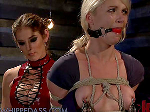 Blonde and Black-haired Fuck in the Dungeon space