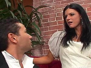 Hotwife Groom Watching How His Bride India Summer Fucks a Hard Stud