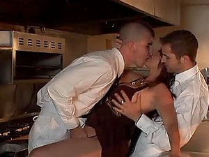 Kris Slater, Pauly Harker and Raquel Devine have ideal threesome romp
