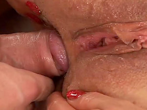 Lustful granny sucking and railing big hard shaft