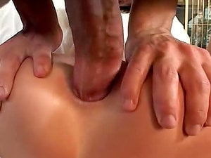 Nasty nymphs get their cock-squeezing booties ripped up by big hard schlongs