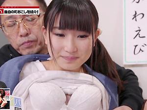 Sweet girl Shizuku Kotohane likes when two guys fuck her together