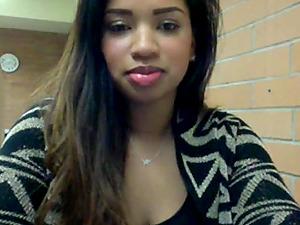 Busty Ebony Teasing In Public Toilet