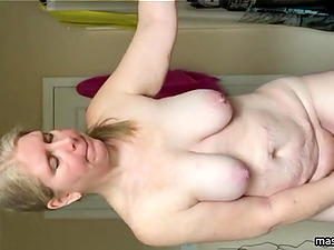 Saggy tits but full of sexual energy. . .