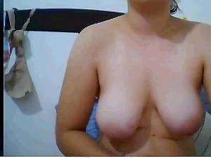 Hot milf masturbates and fucked her hairy pussy